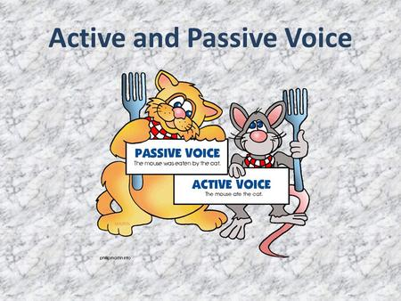 Active and Passive Voice. build built built come came come do did done find found found give gave given go went gone make made made show showed shown.