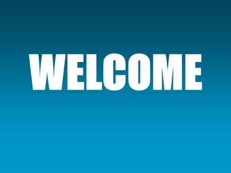 WELCOME. AGENDA Welcome Introductions iPad PILOT PRMS Q & A.