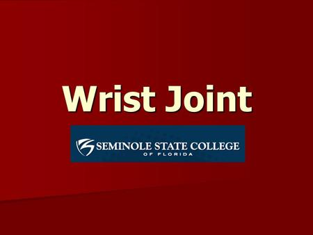 Wrist Joint. The radiocarpal joint and the midcarpal joint create the wrist. The radiocarpal joint consists of the distal end of the radius and the radioulnar.