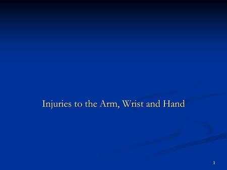 1 Injuries to the Arm, Wrist and Hand 2 Elbow Bones Humerus Ulna Radus Ligaments Ulnar Collateral Annular Ligament Interossius Membrane Joints Humeroulnar,