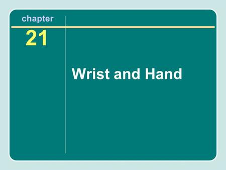 Chapter 21 Wrist and Hand. Importance of the Hand The hand is extremely complex and requires fine balance of all structures to function properly. Finger.