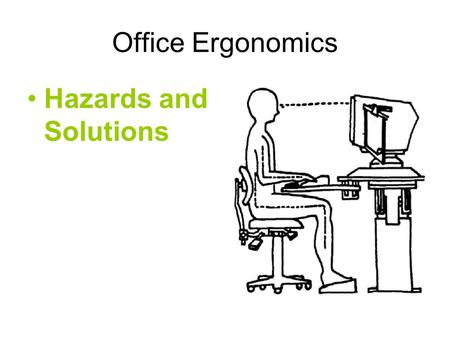 Office Ergonomics Hazards and Solutions. Definitions.