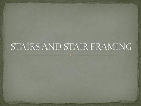 "STAIR – a series of steps, each elevated a measured distance, leading from one level of a structure to another. ""Flight of Stairs"" – a continuous series."