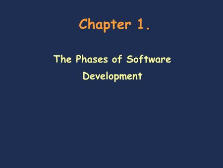 Chapter 1. The Phases of Software Development. Data Structure 2 Chapter outline  Objectives  Use Javadoc to write a method's complete specification.