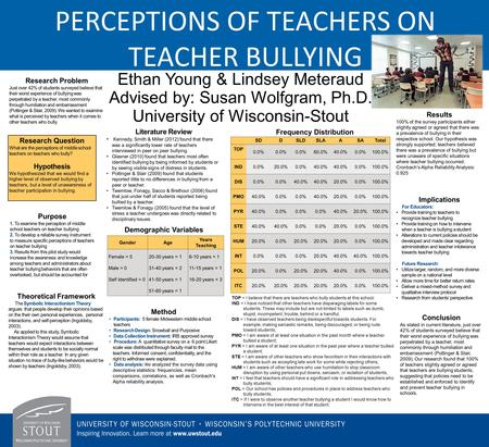 Ethan Young & Lindsey Meteraud Advised by: Susan Wolfgram, Ph.D. University of Wisconsin-Stout Research Problem Just over 42% of students surveyed believe.