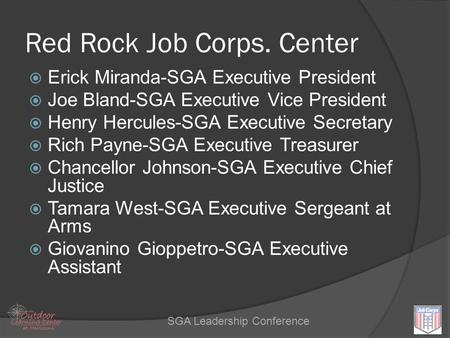 Red Rock Job Corps. Center