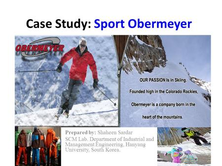 an analysis of biggest challenge sport obermeyer Sport obermeyer: case analysis pratyusha lakshmi a significant challenge for a firm such as sport obermeyer the biggest challenge sport obermeyer is facing.