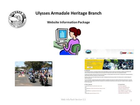 Ulysses Armadale Heritage Branch Website Information Package Web Info Pack Version 1.1 1.