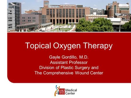 Topical Oxygen Therapy