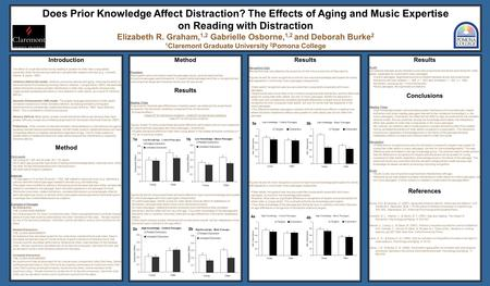 Does Prior Knowledge Affect Distraction? The Effects of Aging and Music Expertise on Reading with Distraction Elizabeth R. Graham, 1,2 Gabrielle Osborne,