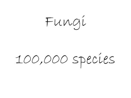 Fungi 100,000 species. Characteristics Eukaryote: with chitonous cell wall, no chloroplasts Reproduction – Asexual – budding – in yeast cells – Sexual.