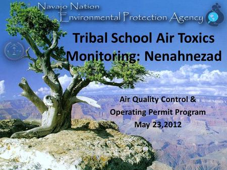 Tribal School Air Toxics Monitoring: Nenahnezad Air Quality Control & Operating Permit Program May 23,2012.