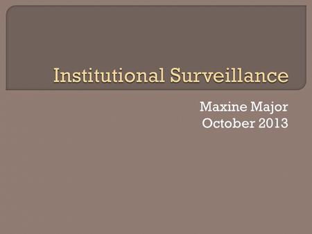 Maxine Major October 2013.  Topic Summary  Robbins v. Lower Merion School District  Legal Process  Pending Outcomes  Similar Cases  Current Landscape.