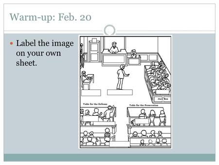 Warm-up: Feb. 20 Label the image on your own sheet.