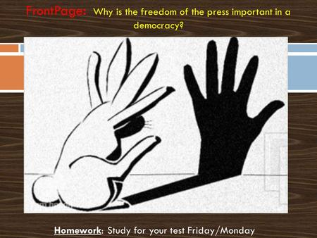 Importance of Freedom of Press and Media
