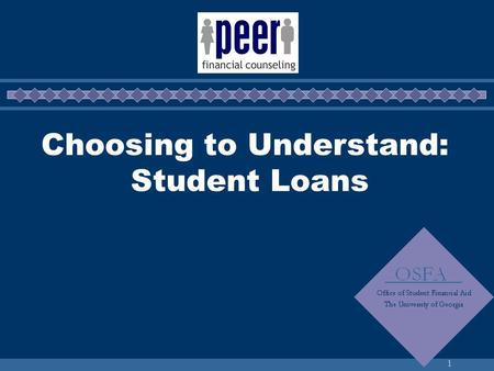 1 Choosing to Understand: Student Loans. 2 How are you paying for college?