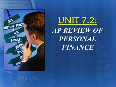 "UNIT 7.2: AP REVIEW OF PERSONAL FINANCE ""WHO MONITORS THE STOCK MARKET IN THE USA?"" They are not insured but at least they have been reviewed."