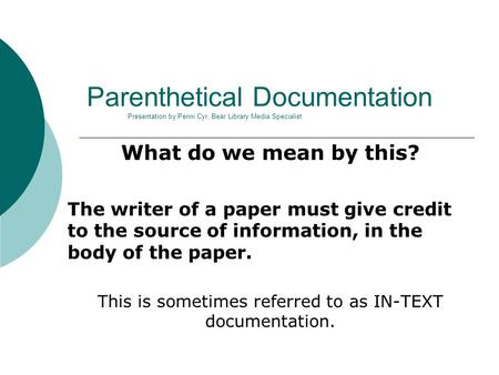 how to use documentation in a research paper