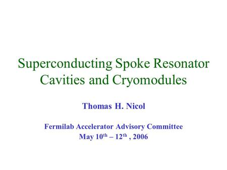 Superconducting Spoke Resonator Cavities and Cryomodules