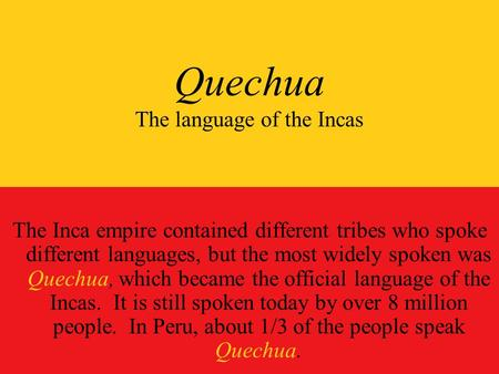 inca language quechua - photo #3