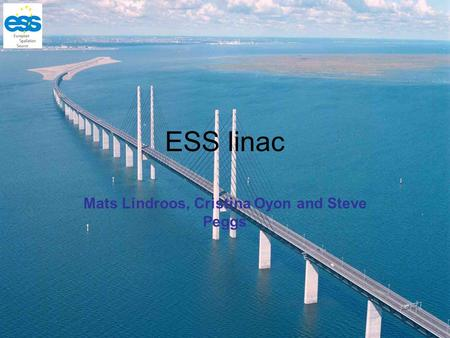 ESS linac Mats Lindroos, Cristina Oyon and Steve Peggs.