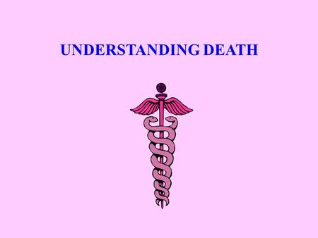 UNDERSTANDING DEATH. Objective ACTION: Identify the variances of the 3 stages of death. CONDITIONS: Given the lecture and class notes. STANDARD: Identification.