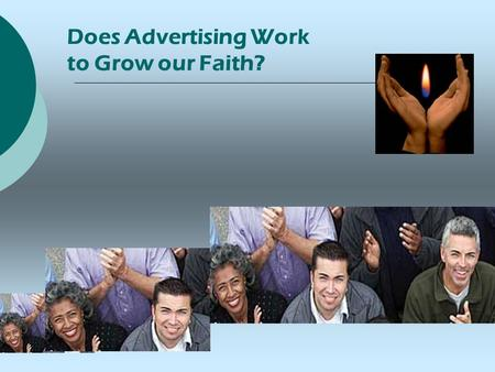 Does Advertising Work to Grow our Faith?. Kansas City The First Experiment  4 Month Media Test Spring 2003 $130,000 Media Buy, UUA Capital Campaign-