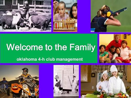 Oklahoma 4-h club management. Parent Orientation.