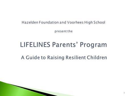 A Guide to Raising Resilient Children 1. 2 Is There a Need?  3 rd leading cause of death in adolescence  2 nd leading cause of death in college students.