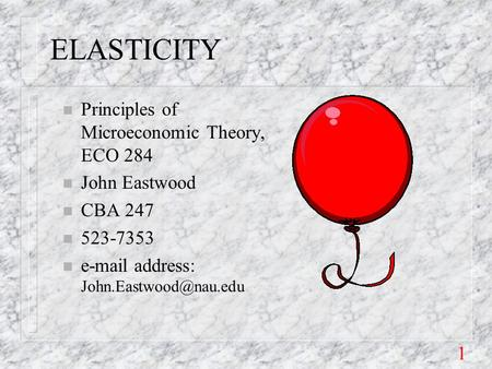 an introduction to the price theory and price elasticity