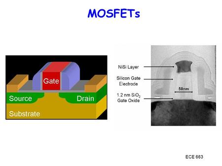 MOSFETs MOSFETs ECE 663.