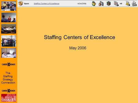 The Staffing Strategy Connection Staffing Centers of Excellence May 2006.