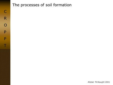 Biotic and abiotic factors that control soil development for Meaning of soil formation