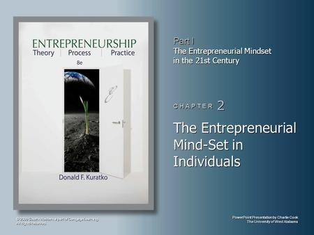 The Entrepreneurial Mind-Set in Individuals