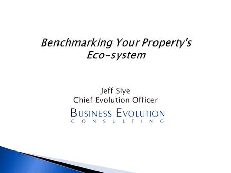 1.Benchmarking 2.Benefits 3.Eco System 4.Examples 5.Conclusions.
