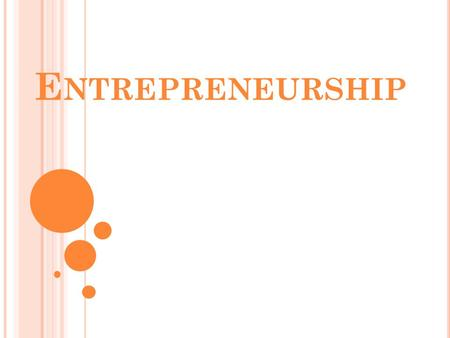 E NTREPRENEURSHIP. MSBCS-BCSIII-7: T HE STUDENTS WILL EXAMINE BASICS OF ENTREPRENEURSHIP. A ) D EFINE ENTREPRENEURSHIP (N ATIONAL S TANDARDS FOR NBEA,