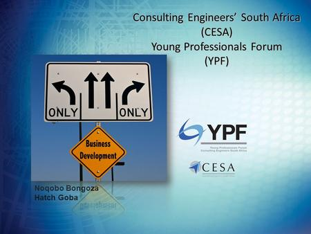 Consulting Engineers' South Africa (CESA) Young Professionals Forum (YPF) Noqobo Bongoza Hatch Goba.