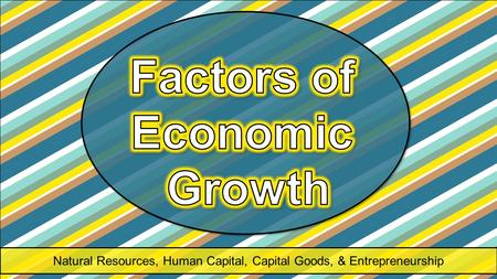 Natural Resources, Human Capital, Capital Goods, & Entrepreneurship