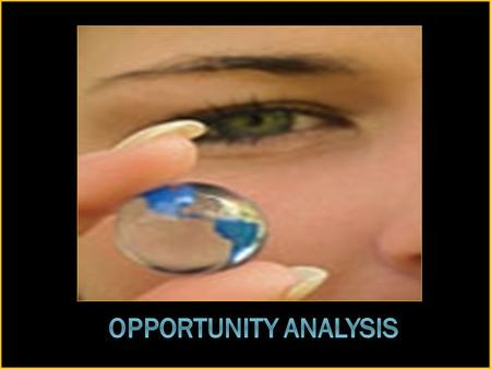 Opportunity Analysis.
