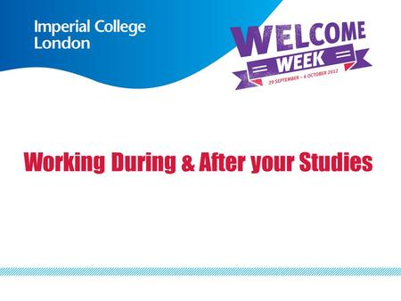 Working During & After your Studies. Sharon BoltonShahida Osman International Student SupportCareers Consultant International OfficeCareers Advisory Service.