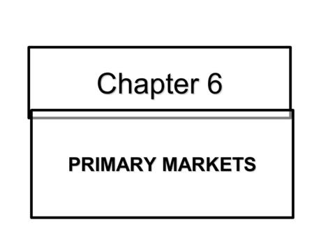 Chapter 6 PRIMARY MARKETS. Regulation of the Issuance of Securities Underwriting activities are regulated by SEC in US.Underwriting activities are regulated.