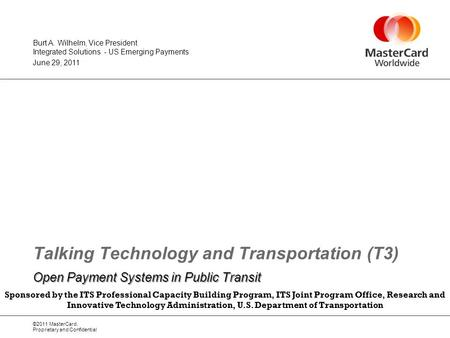 Talking Technology and Transportation (T3)