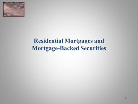 Residential mortgage-backed security