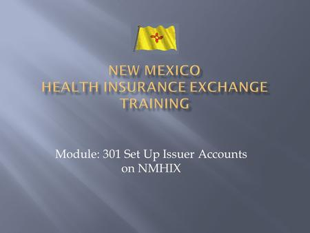 Module: 301 Set Up Issuer Accounts on NMHIX. It is recommended that all issuers using NMHIX should take this course.