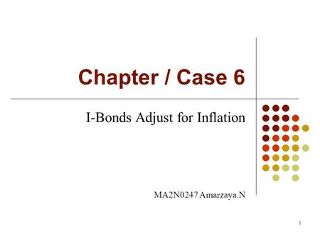 I-Bonds Adjust for Inflation MA2N0247 Amarzaya.N