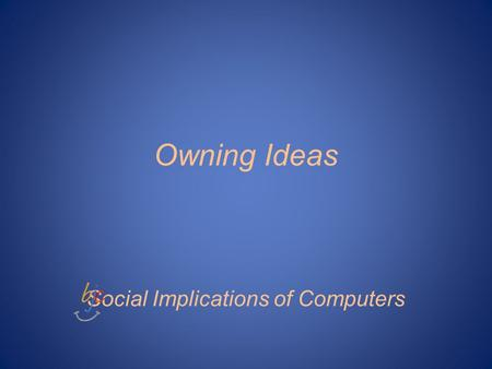 Owning Ideas Social Implications of Computers. Who is Elisha Gray?