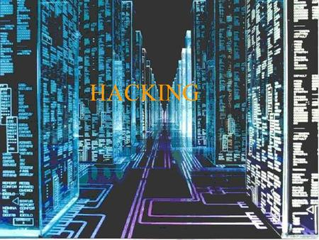 HACKING. Contents (1)  VARIOUS DEFINITIONS OF HACKING.  Who is hacker? (various definitions).  What does he do?.  Why does he do?  Who is a cracker?