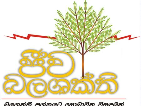 Sustainable Indigenous Energy for Tea Industry in Sri Lanka L P Jayasinghe Bio Energy Association of Sri Lanka.