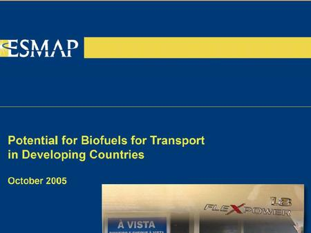 "Why are biofuels attractive? Energy security: locally produced, wider availability, ""grow your own oil"" Climate change mitigation: one of the few low-"