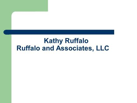 Kathy Ruffalo Ruffalo and Associates, LLC. TOPICS Status of Highway Trust Fund – short and long term Interim report of Financing Commission Status of.